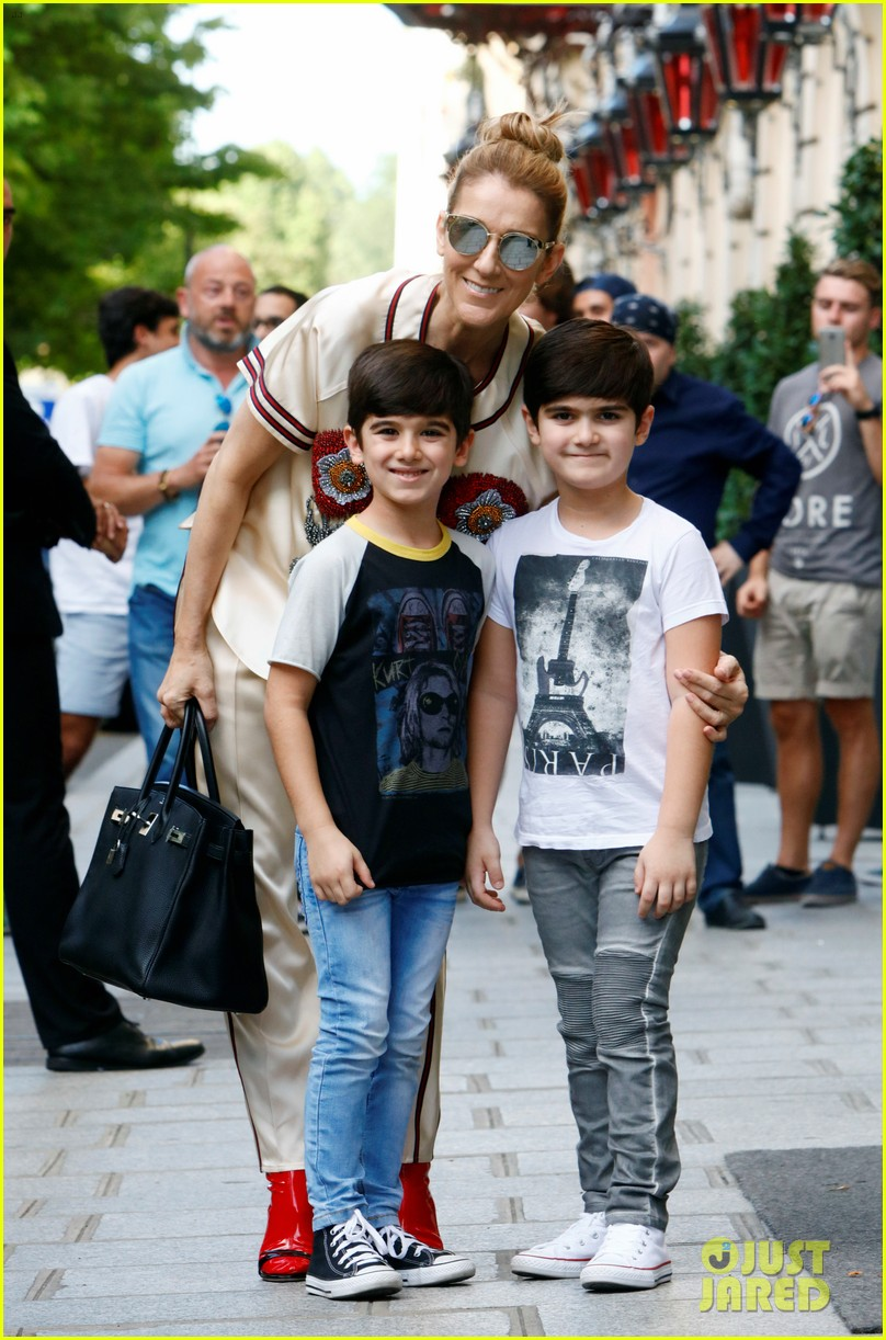 celine dion her twin boys pose for cute photos in paris 043929476