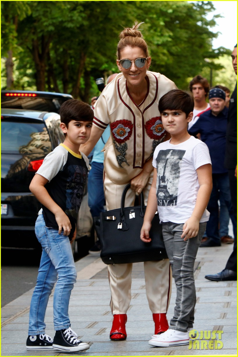 celine dion her twin boys pose for cute photos in paris 053929477