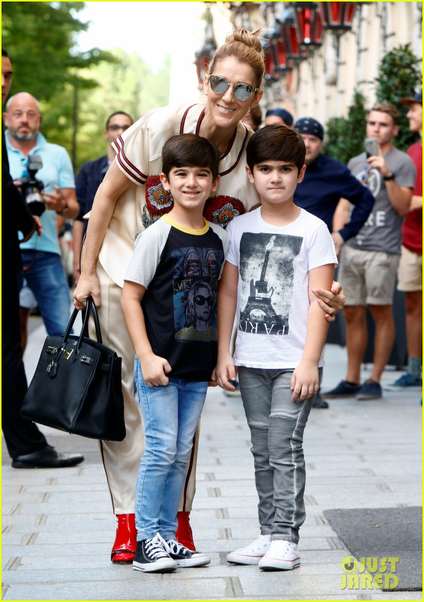 celine dion her twin boys pose for cute photos in paris 193929491