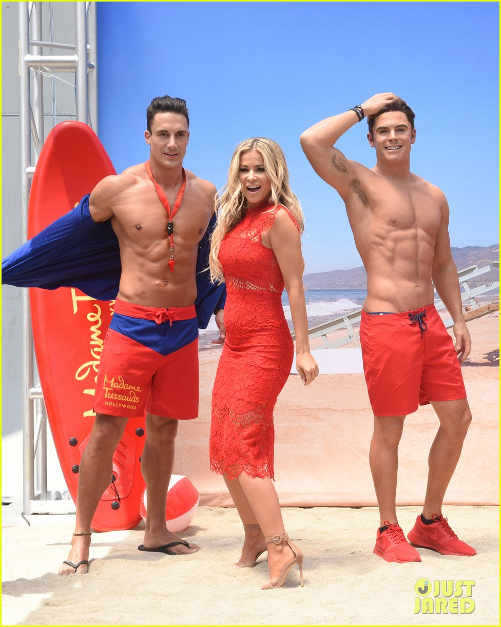 zac efron has a shirtless wax figure it visited the beach 073928830
