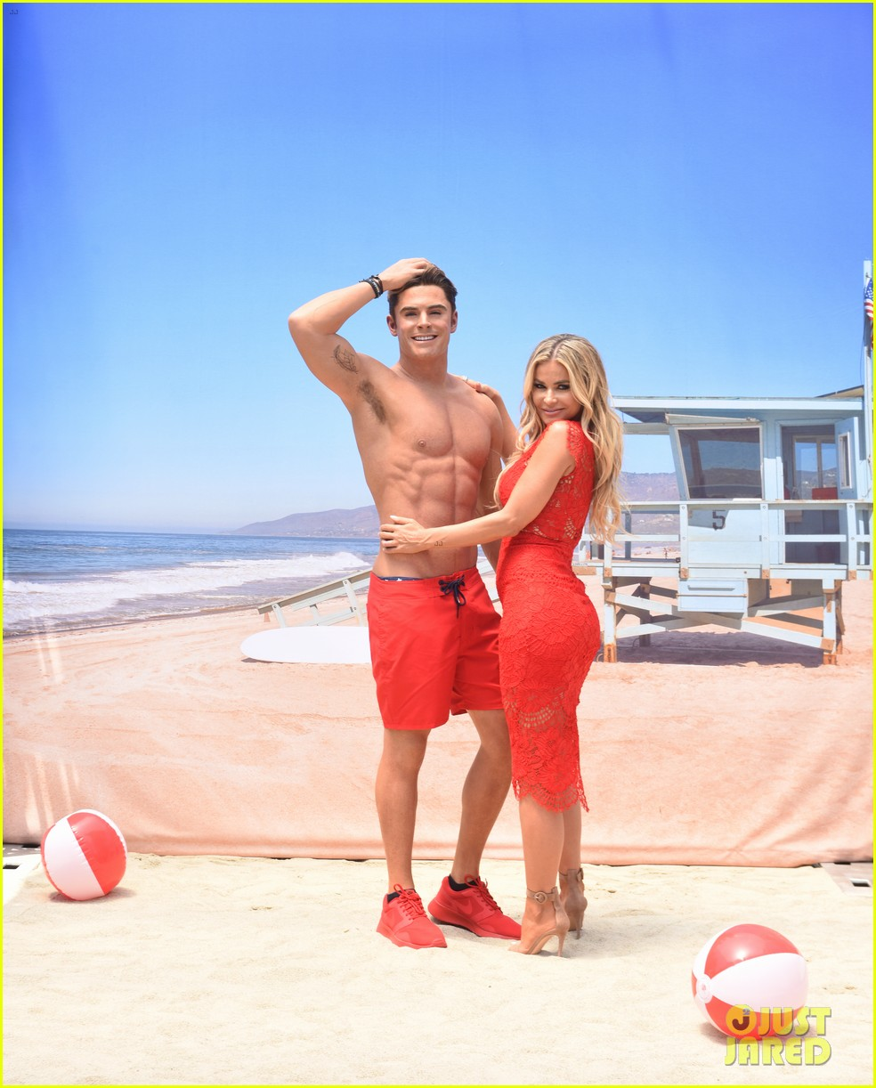 zac efron has a shirtless wax figure it visited the beach 133928836
