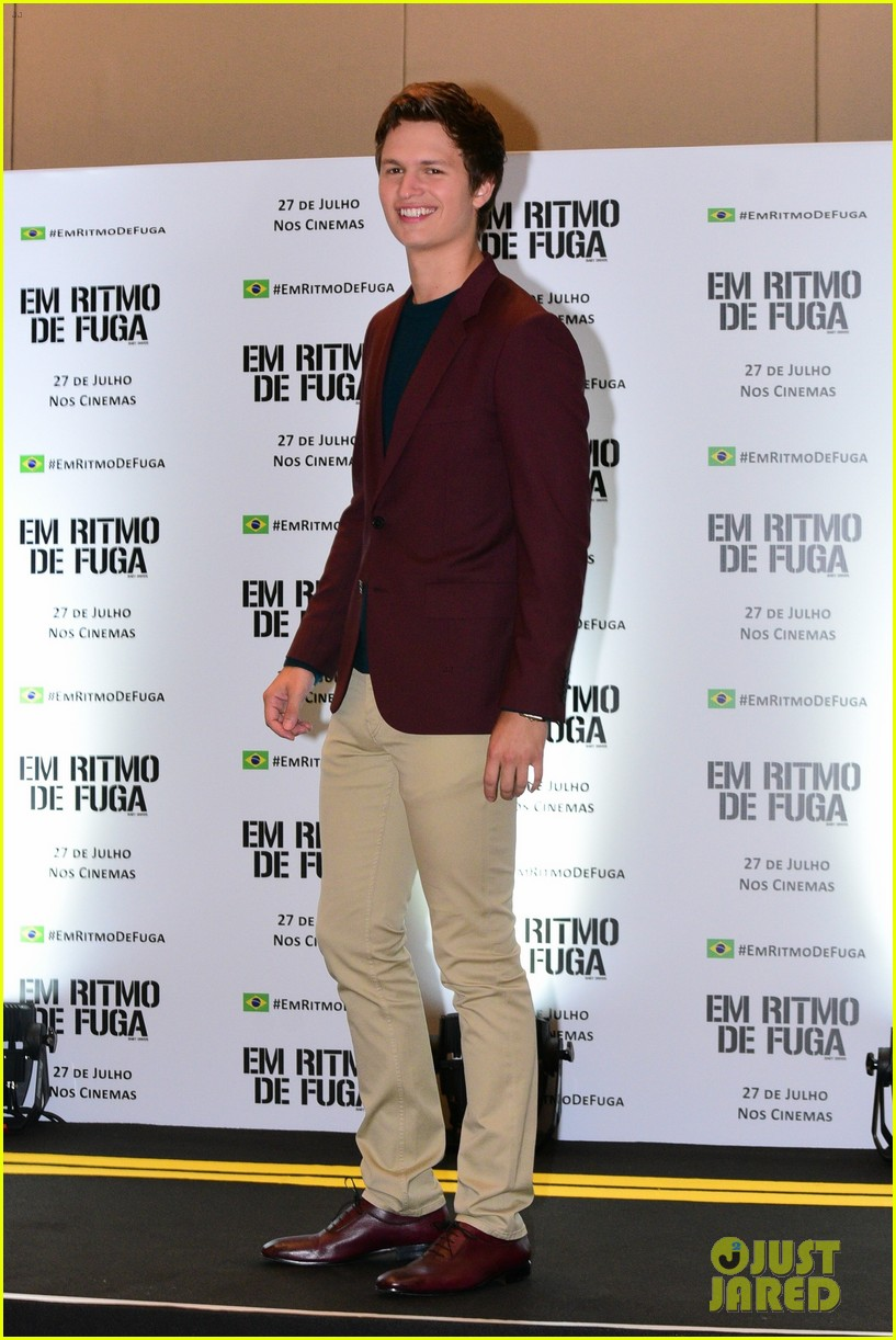 ansel elgort surprises fans at baby driver screening in brazil 013933485