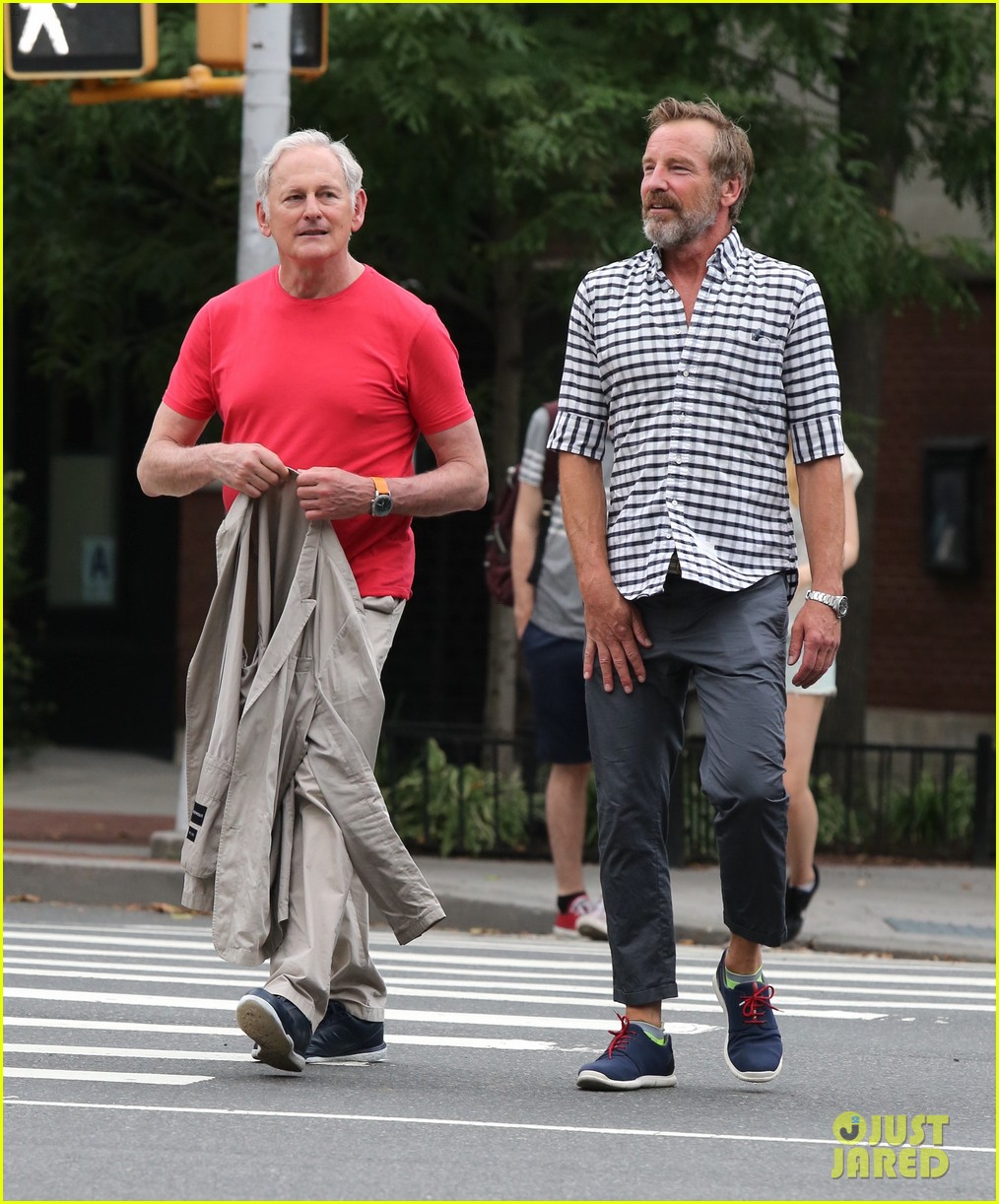 victor garber ubby rainer go for a stroll in nyc 013923555