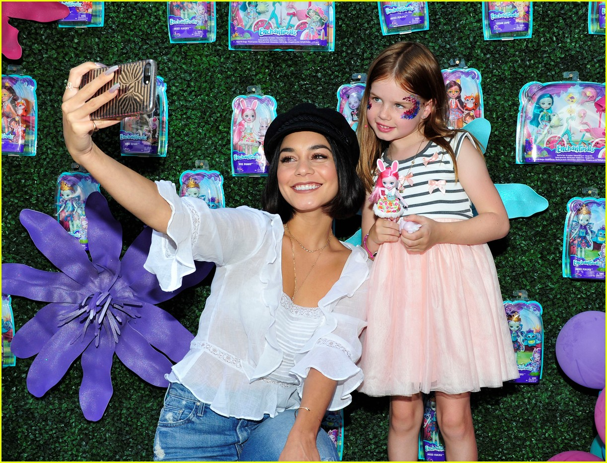 vanessa hudgens snaps selfies with fans at toy launch 023930724