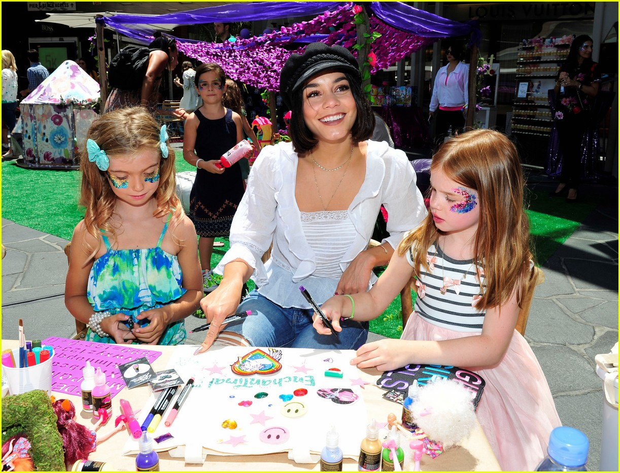vanessa hudgens snaps selfies with fans at toy launch 033930725