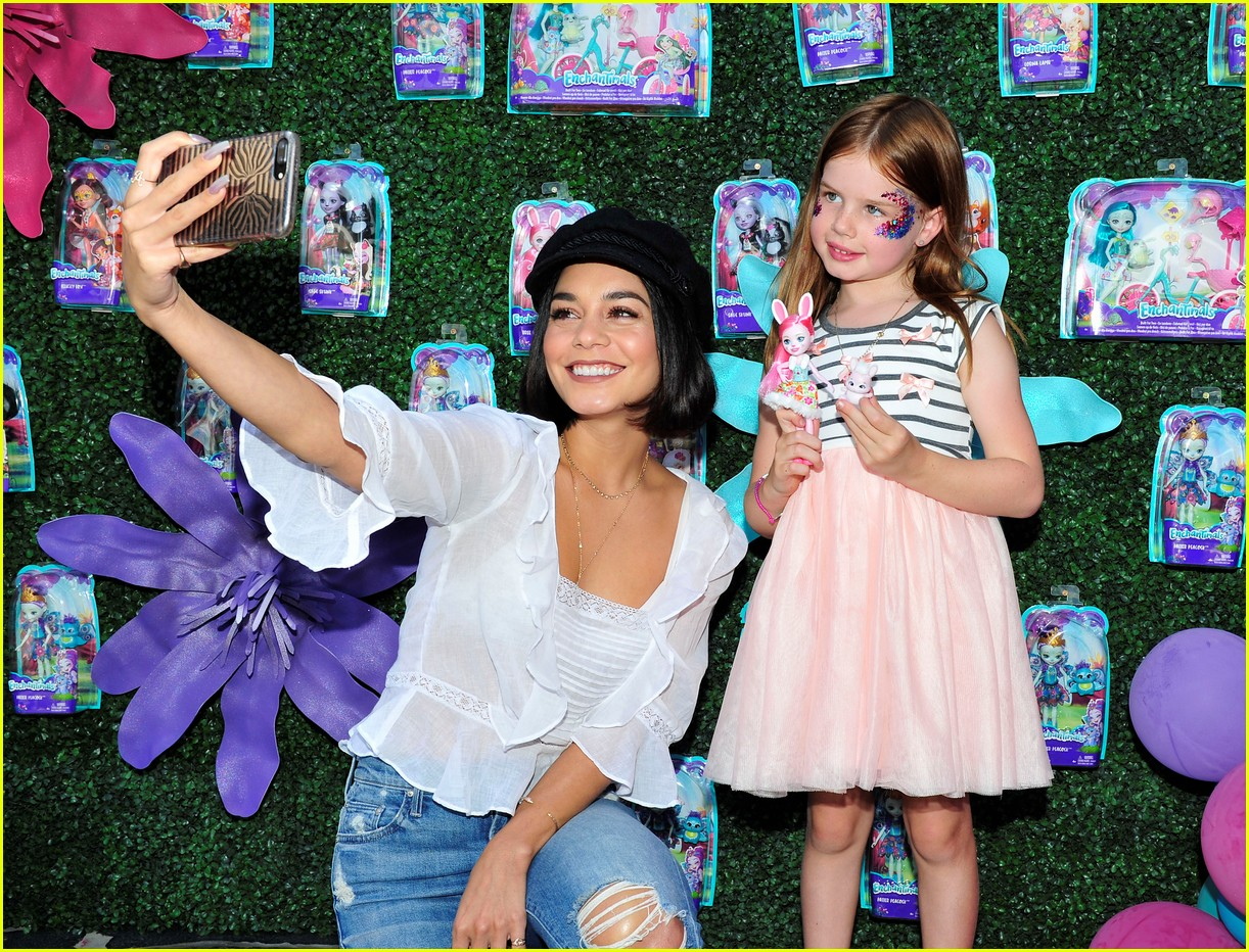 vanessa hudgens snaps selfies with fans at toy launch 053930727