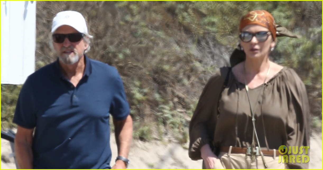 catherine zeta jones and michael douglas couple up for malibu lunch date 013926135