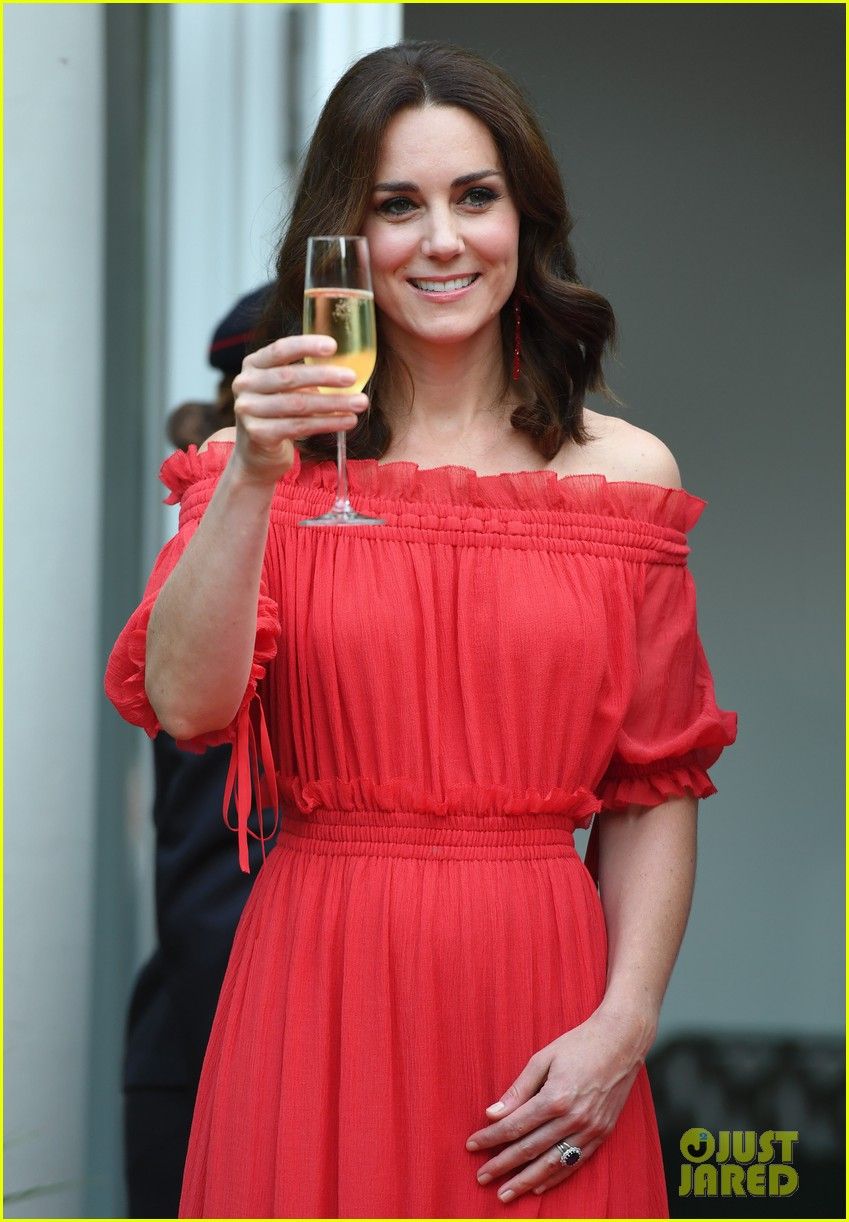 Whitesides Of Cambridge >> Kate Middleton is Radiant in Red at The Queen's Berlin Birthday: Photo 3930300 | Kate Middleton ...