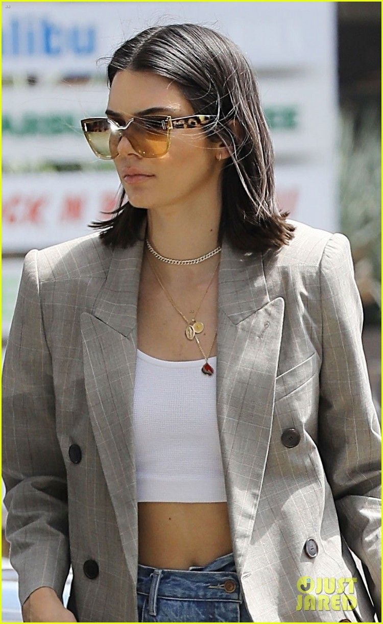 kendall jenner wears a blazer for errand run in beverly hills 053929063
