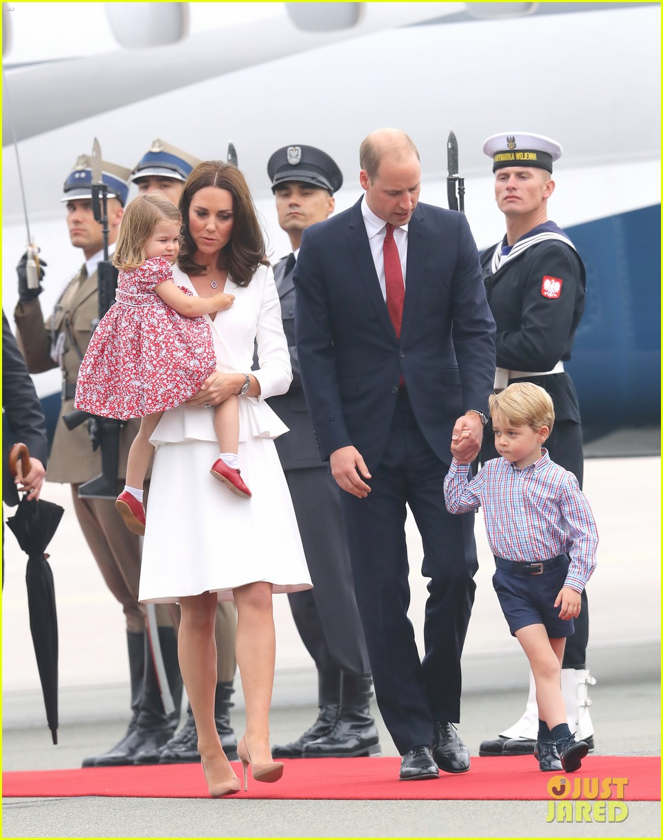 kate middleton prince william arrive in poland with george charlotte 143929253