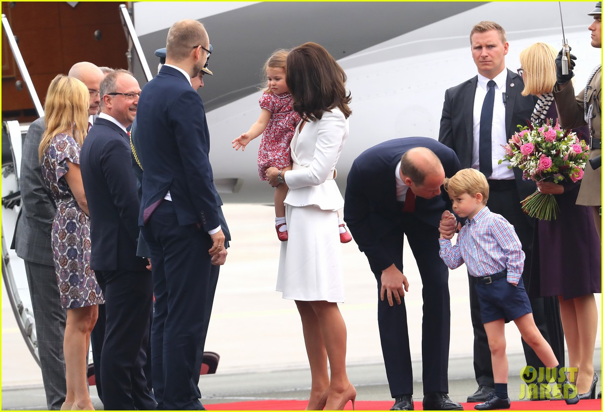 kate middleton prince william arrive in poland with george charlotte 153929254