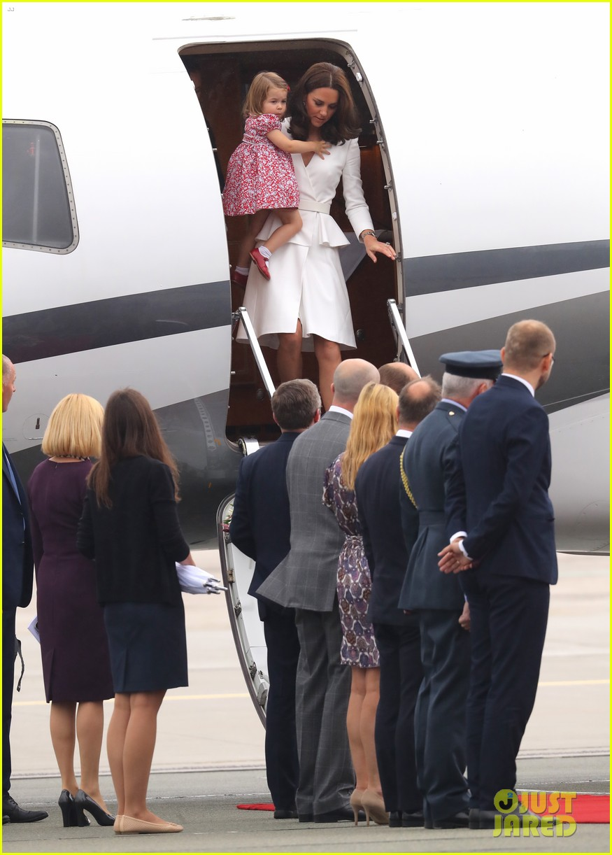 kate middleton prince william arrive in poland with george charlotte 173929256