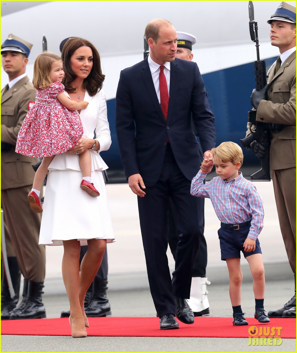 kate middleton prince william arrive in poland with george charlotte 203929259