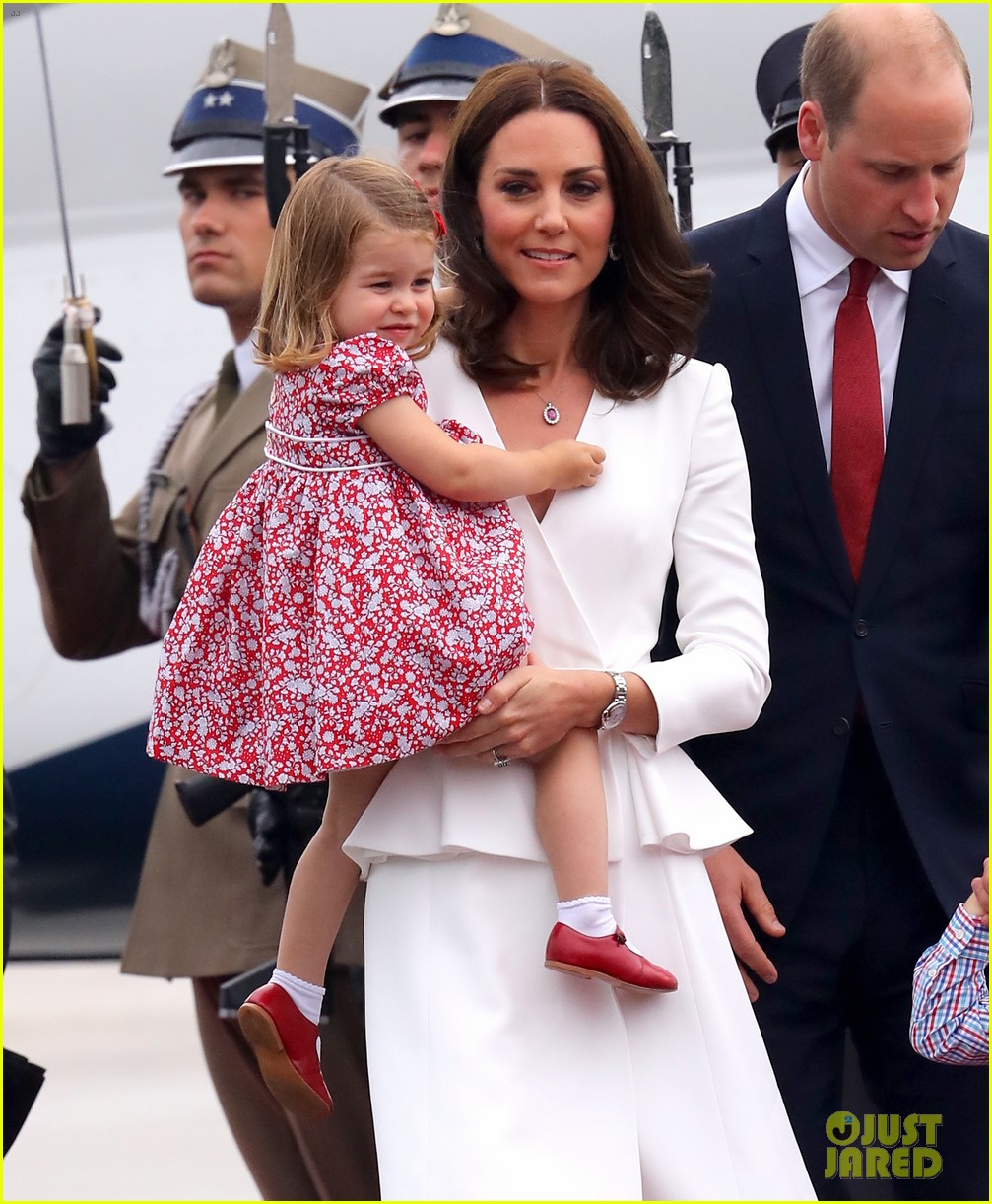 kate middleton prince william arrive in poland with george charlotte 243929263