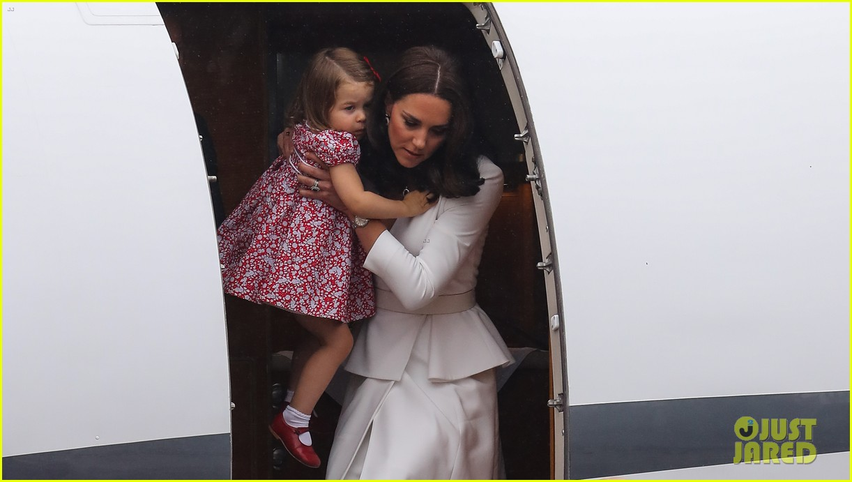 kate middleton prince william arrive in poland with george charlotte 293929268