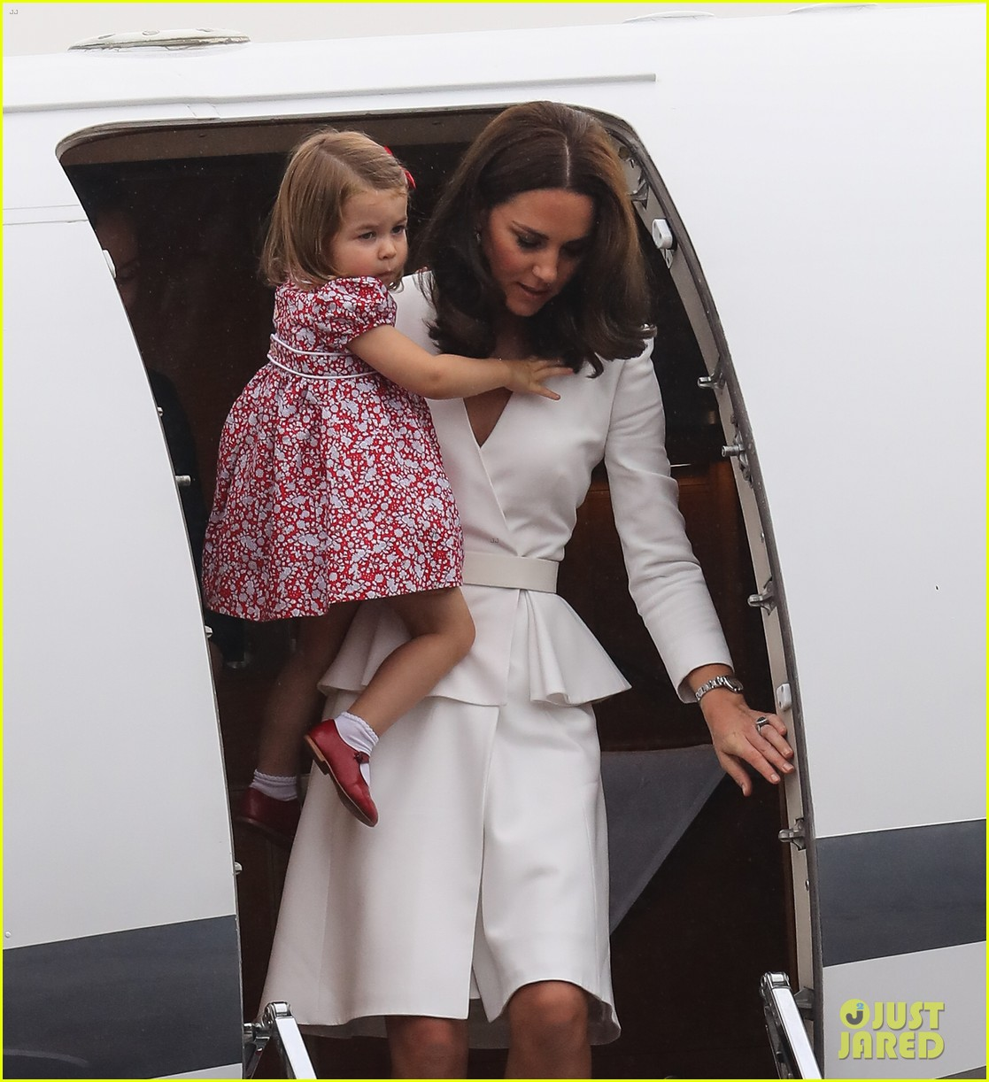 kate middleton prince william arrive in poland with george charlotte 303929269