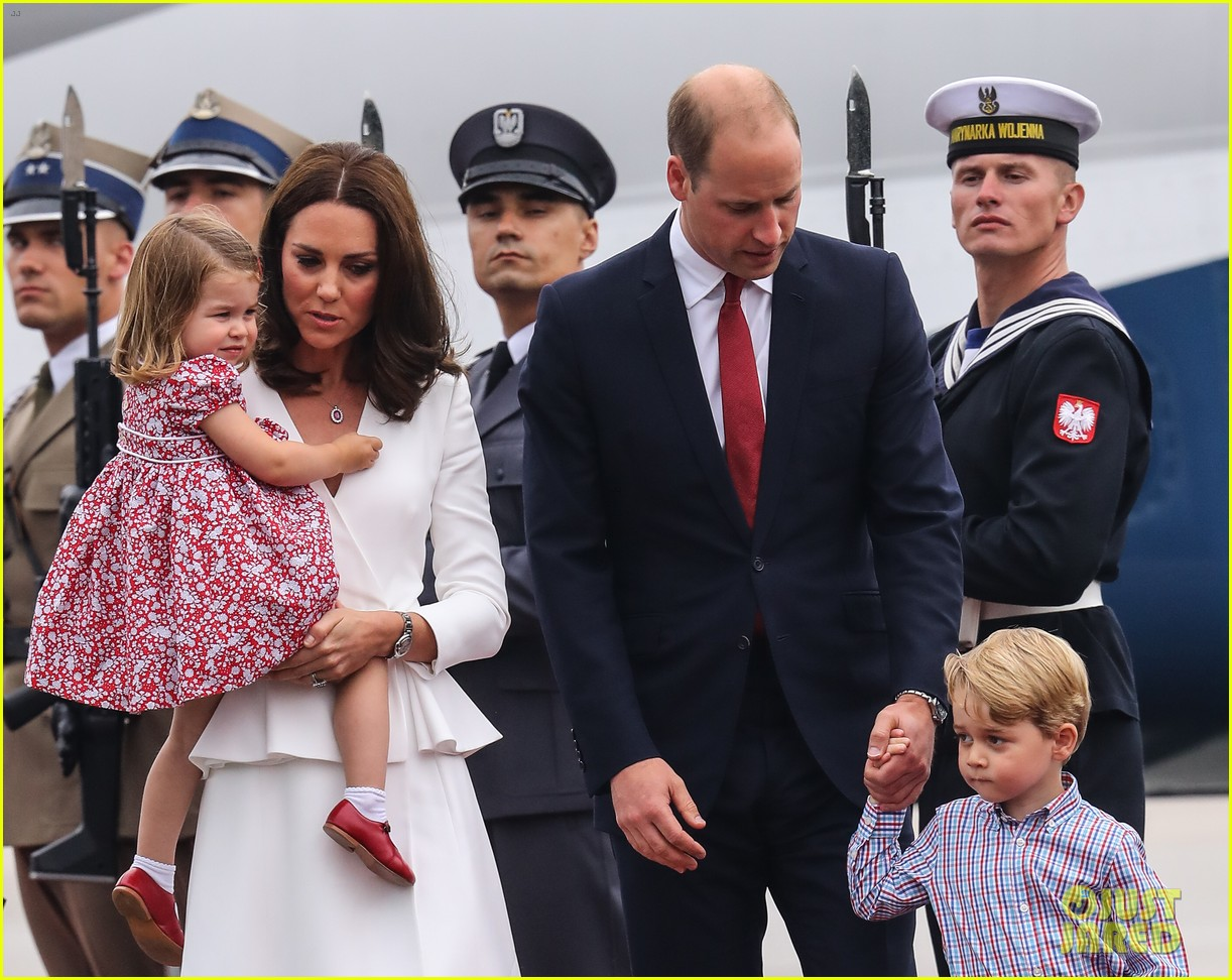 kate middleton prince william arrive in poland with george charlotte 403929279