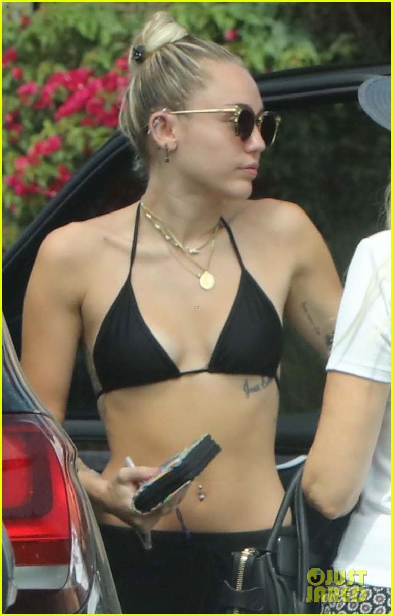 Miley Cyrus In Black Bikini