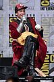 ezra miller ray fisher flash their abs at comic con 06