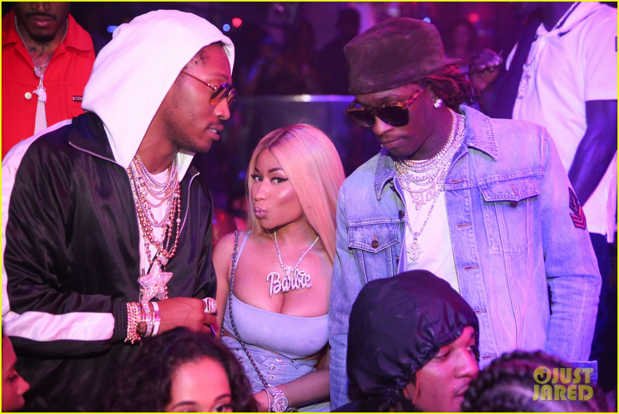 nicki minaj lives it up with future young thug in miami 033935873