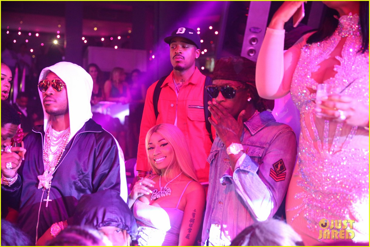 nicki minaj lives it up with future young thug in miami 043935874