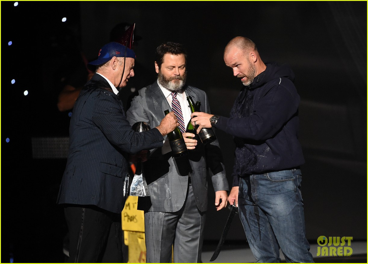 bill murray gets champagne poured on him at espys 043927168