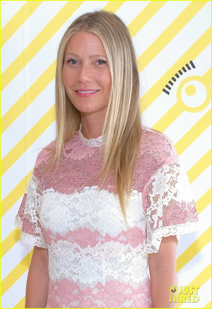 gwyneth paltrow rocks pink lacy dress for despicable me 3 screening 043924142