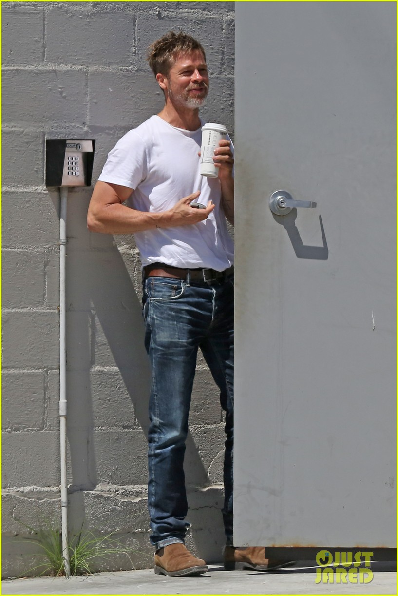 brad pitt shows hes bulking up during july 4th outing 043923957