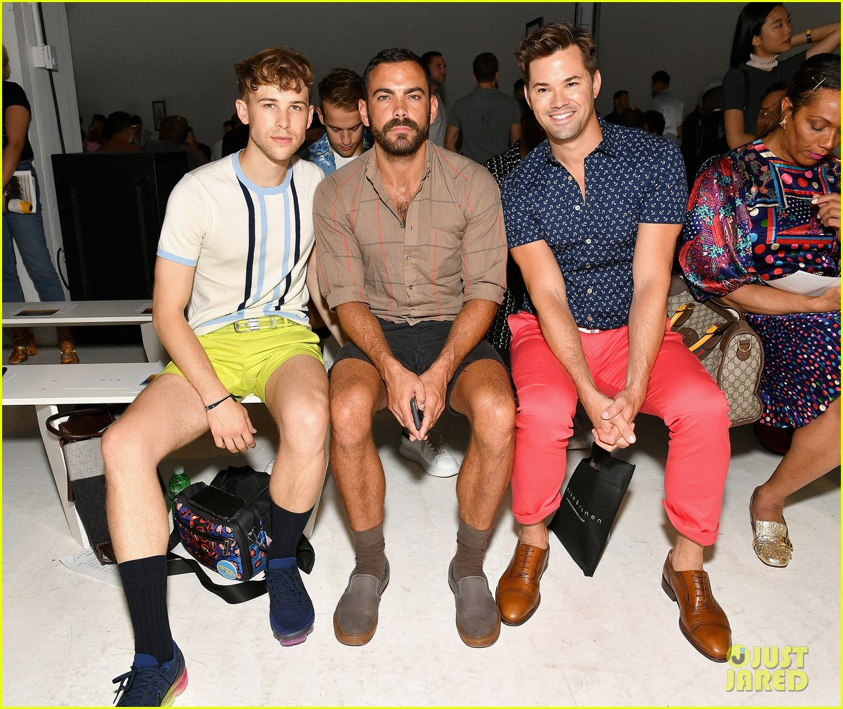 andrew rannells tommy dorfman buddy up at parke ronen show 043927351