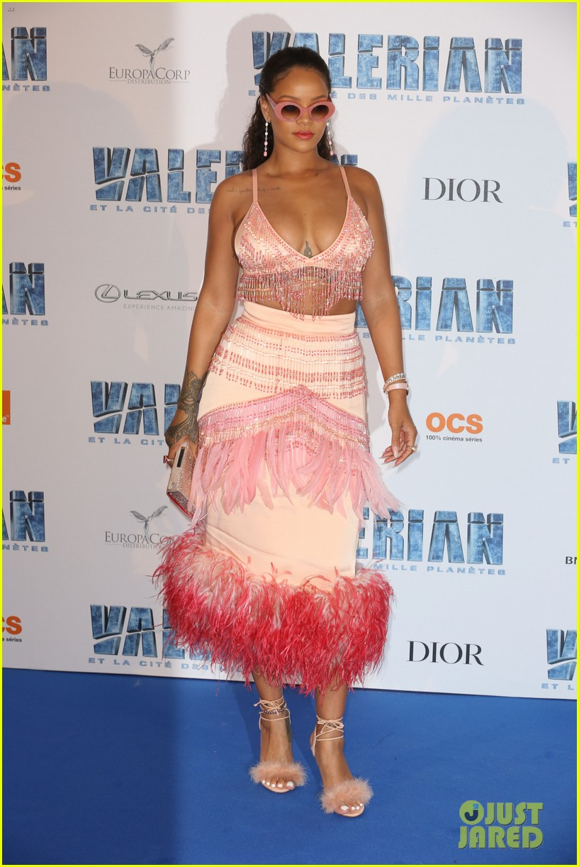 rihanna beaded babe at valerian paris premiere 013933770
