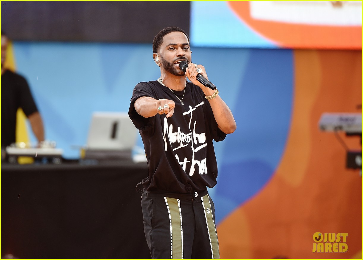 big sean spreads positive message at gma concert 053924858