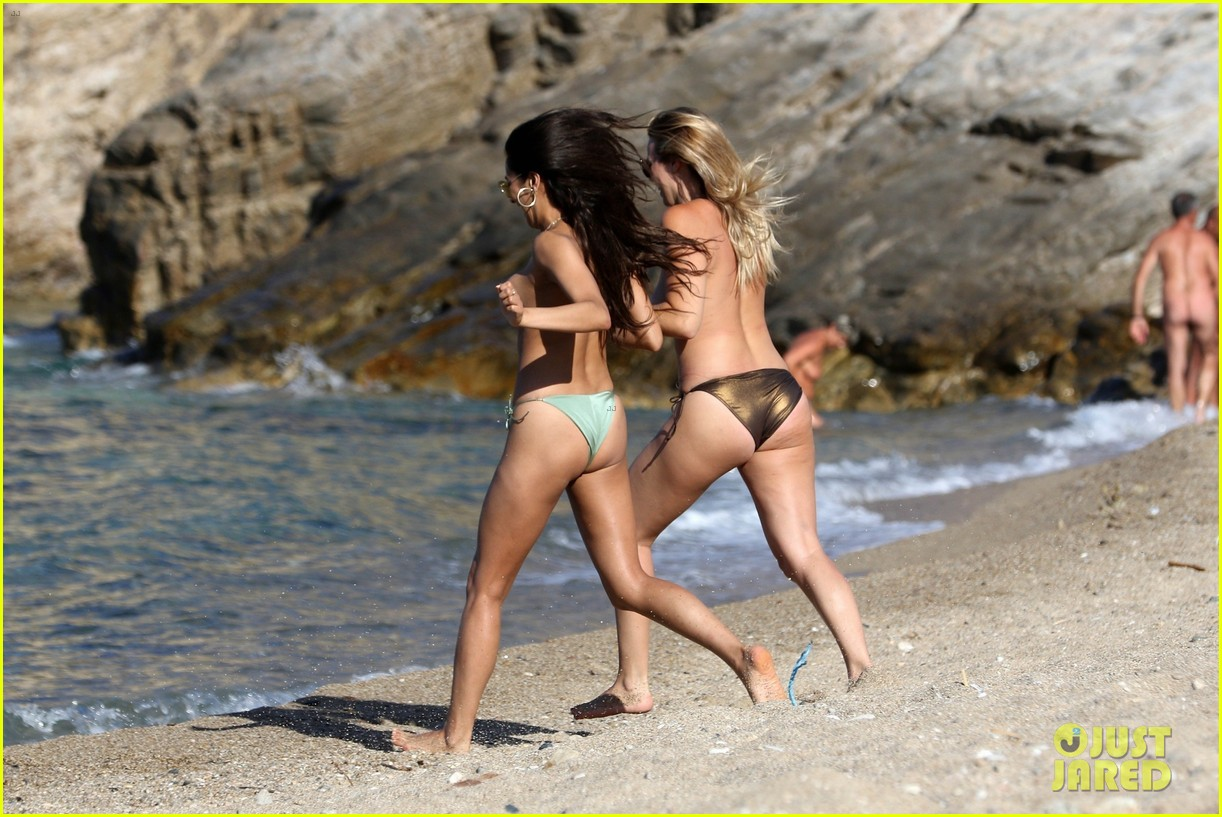 shay mitchell goes topless at the beach in greece 183923578