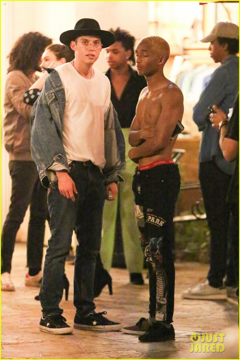 2947e1f5d8879 Jaden Smith Goes Shirtless for Birthday Celebration with Friends ...