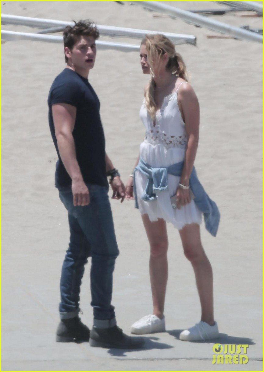 gregg sulkin starts filming marvels runaways at beach in la 083931564