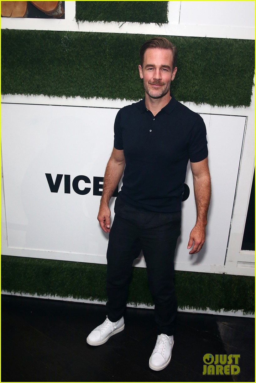 james van der beek lets loose at comic con for what would diplo do 013931973