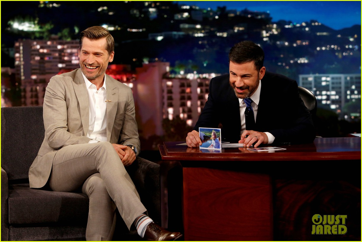 nikolaj coster waldau teases possible jon snow spoiler on jimmy kimmel live 033926824