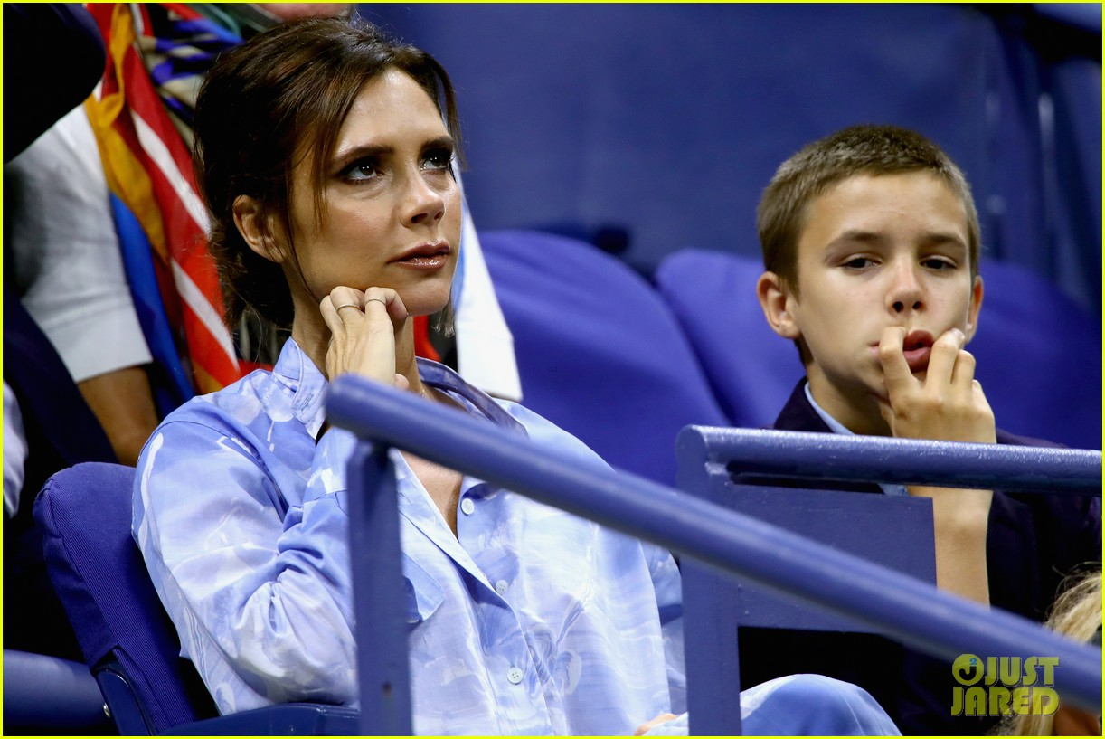 victoria beckham takes her son romeo to the us open 083947928