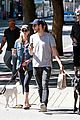 melissa benoist chris wood walk their dogs 05