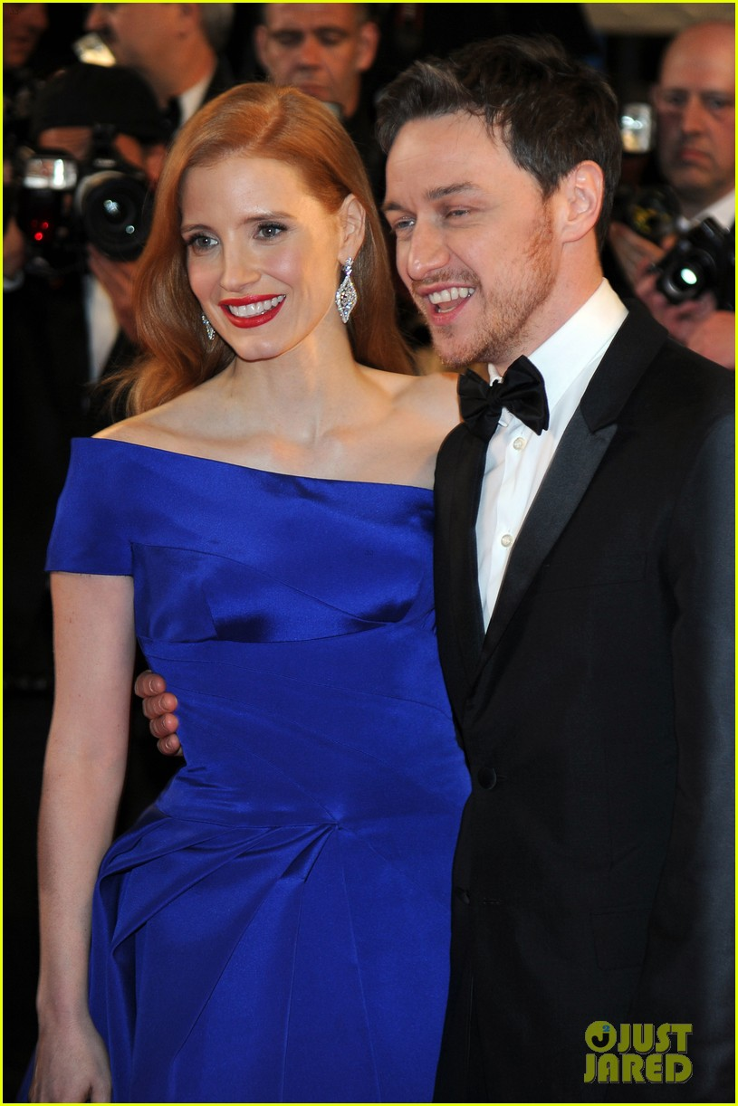 jessica chastain teases x men role with james mcavoy 013936621