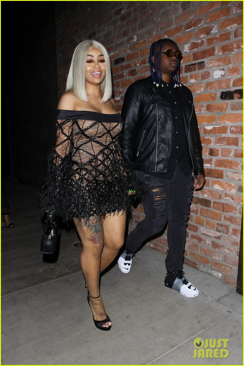 Blac Chyna Goes Totally Sheer For A Night Out