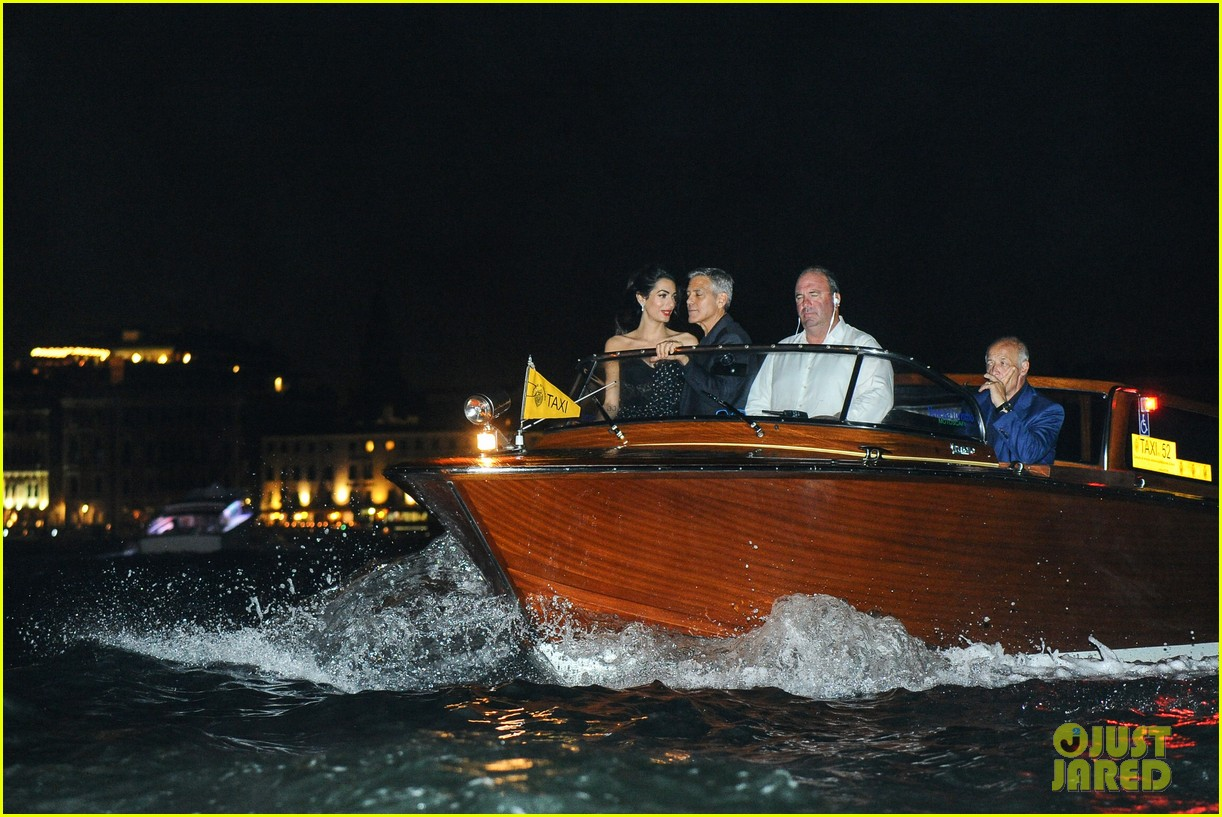 george clooney takes a boat for venice date night with amal 013948776