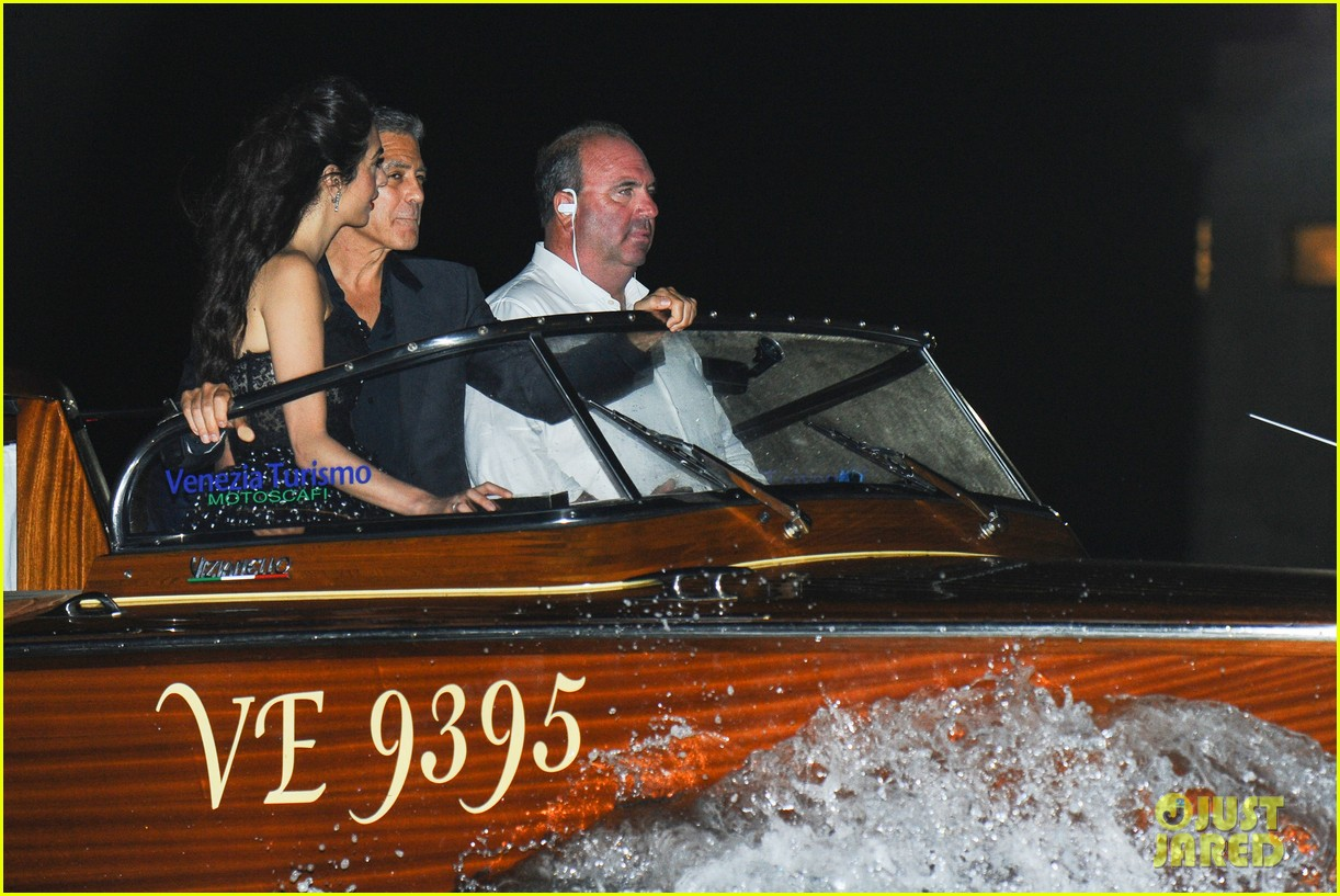 george clooney takes a boat for venice date night with amal 043948779