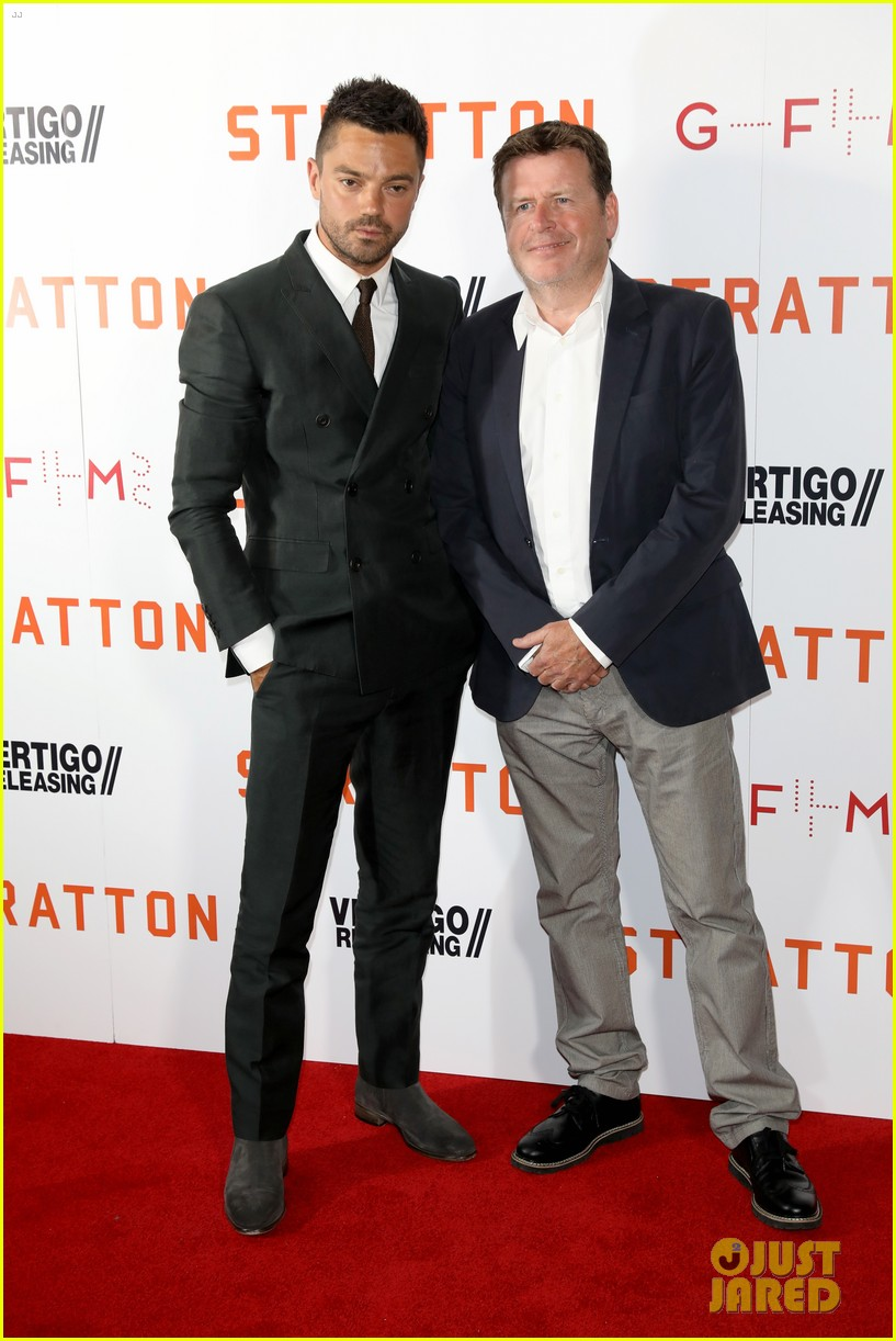 dominic cooper suits up for uk premiere of stratton 013947740