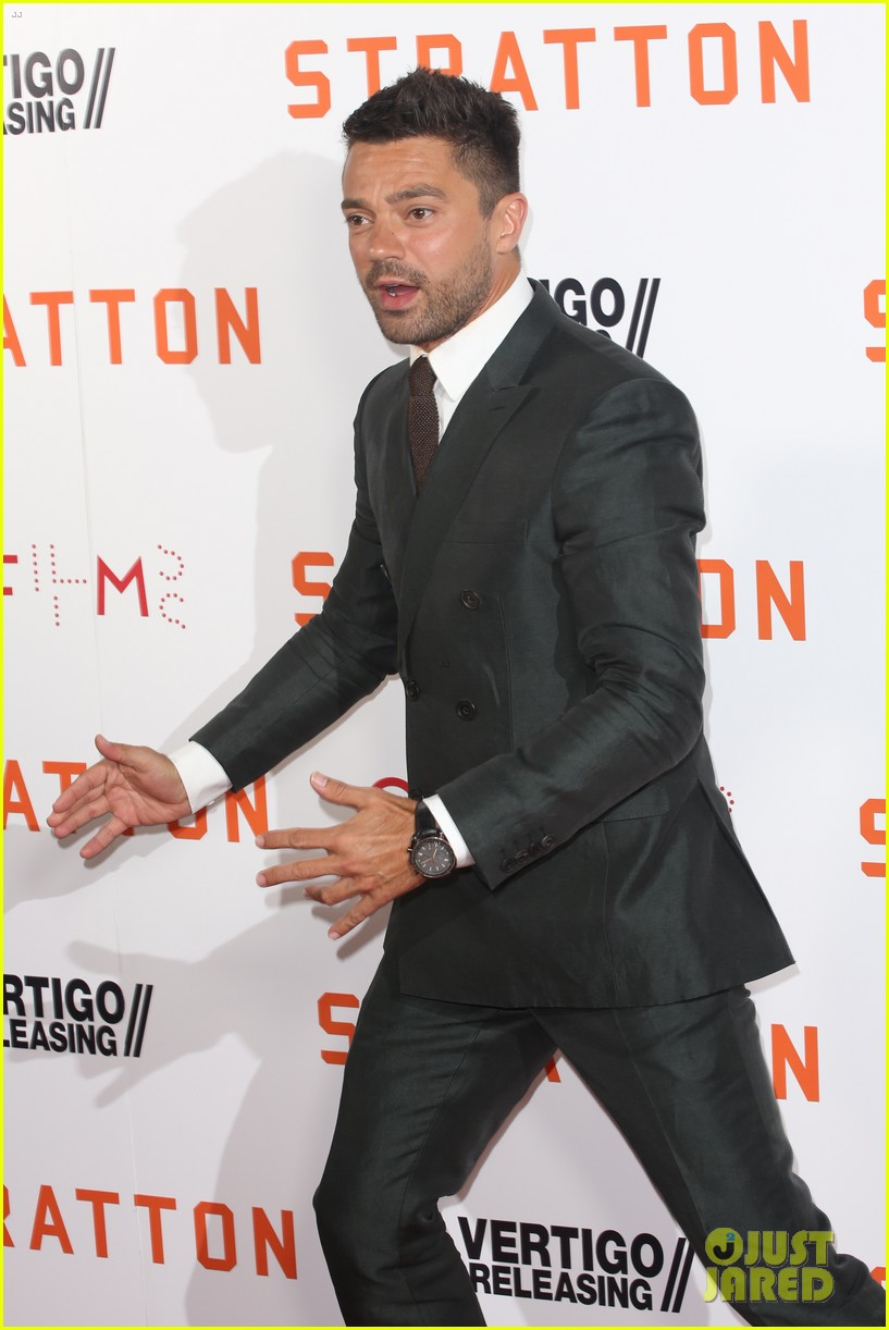 dominic cooper suits up for uk premiere of stratton 023947741