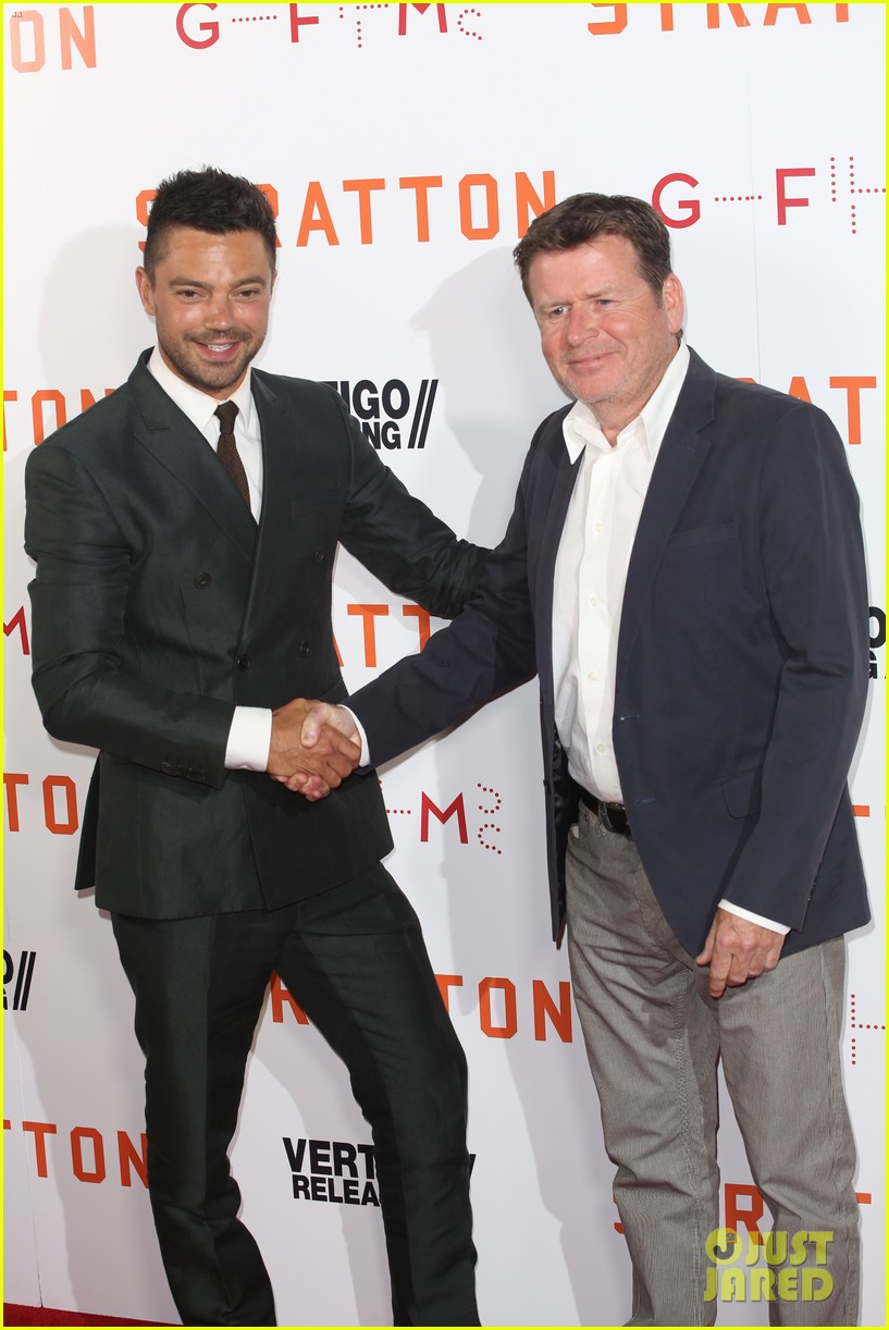 dominic cooper suits up for uk premiere of stratton 043947743