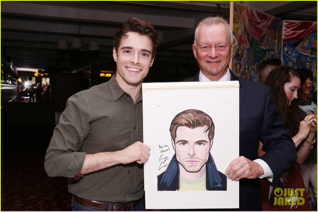 corey cott unveils his portrait at ny sardis 143941125