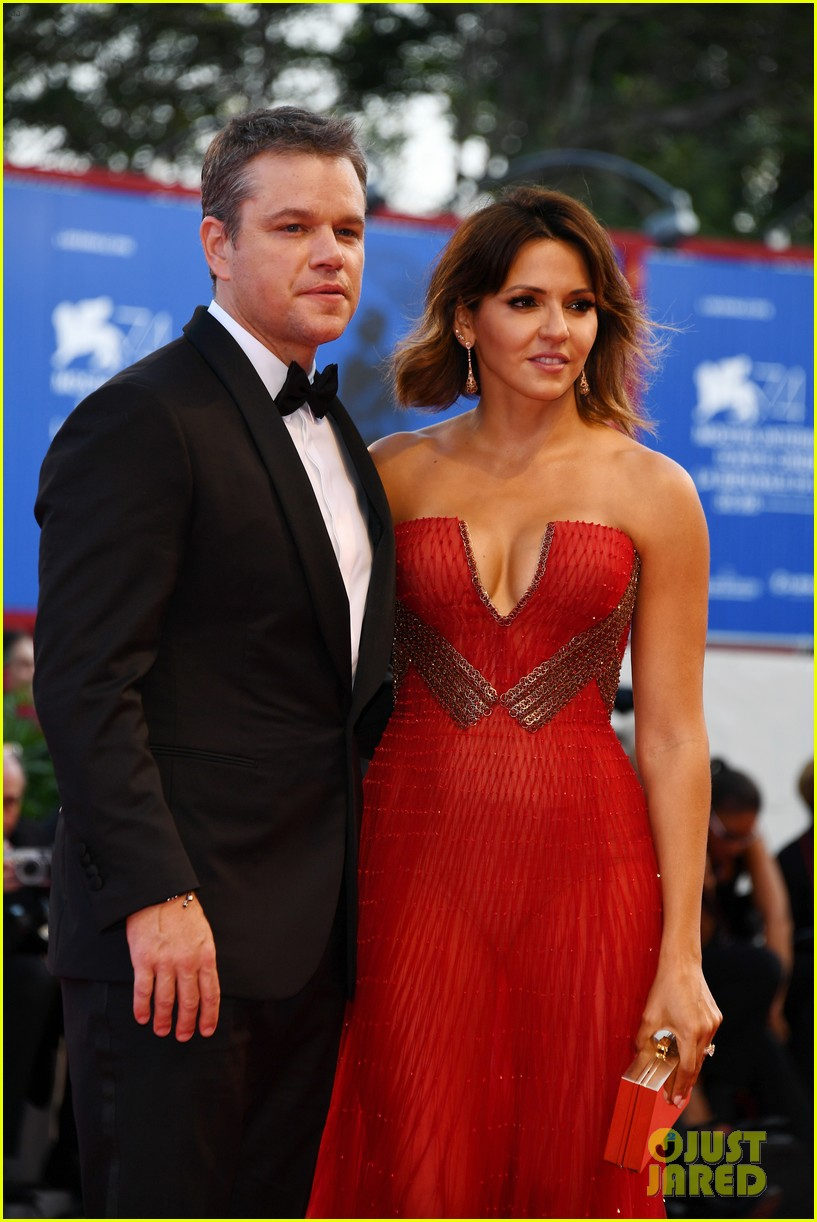 matt damon gets support from wife luciana at downsizing venice opening ceremony 033948232