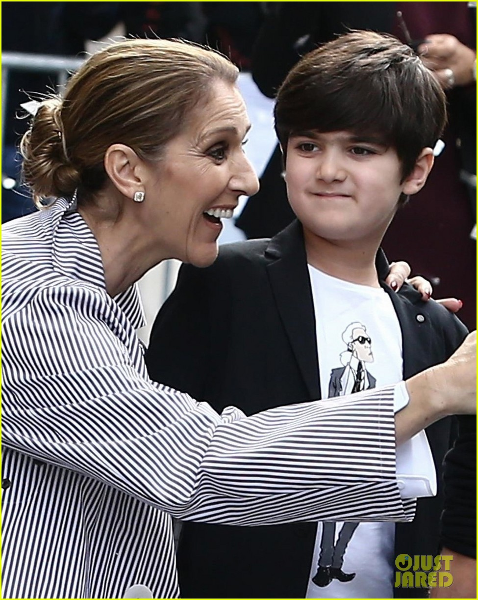 celine dion her twins exit their hotel to a confetti shower 023940636