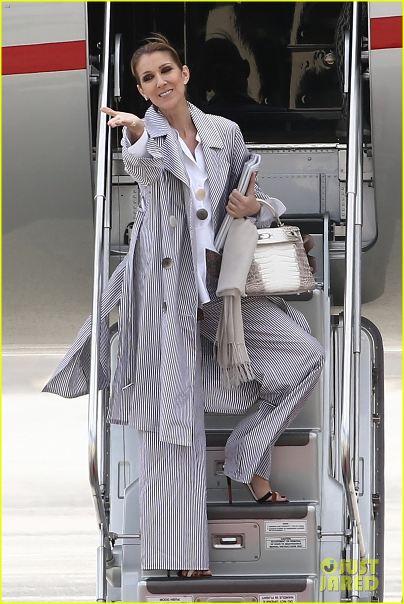 celine dion her twins exit their hotel to a confetti shower 033940637