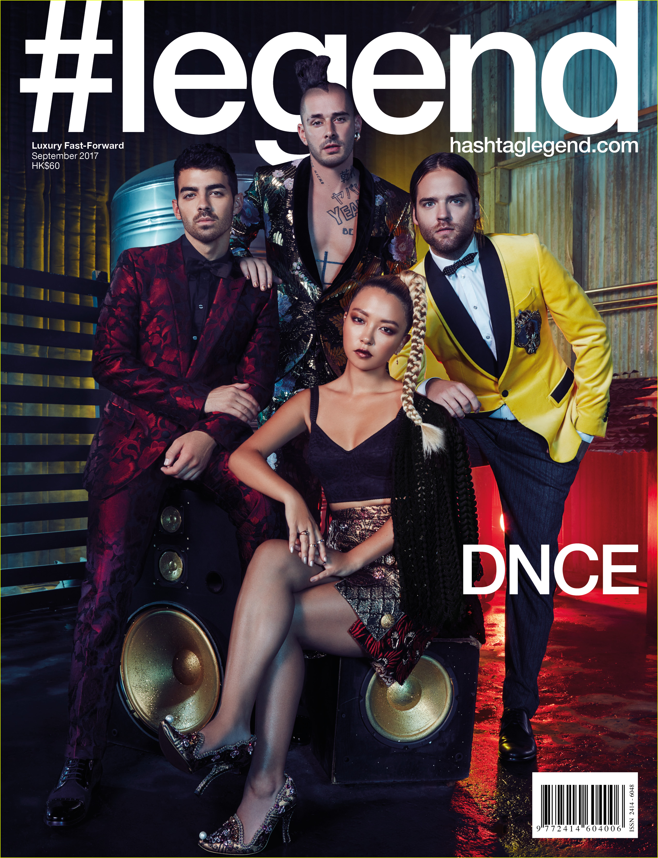 dnce covers legend magazine september issue 013948890